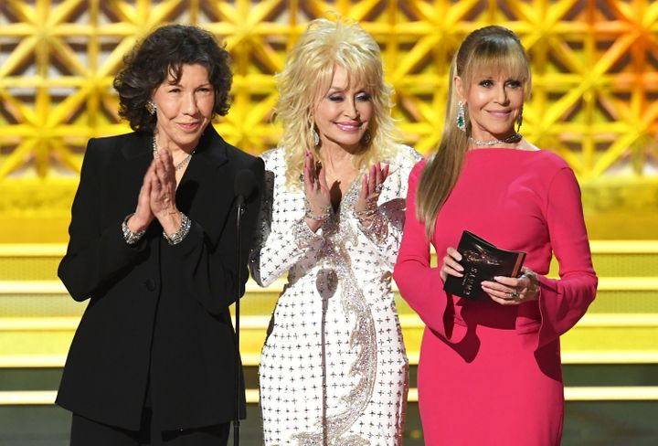 Tomlin, Parton and Fonda appeared at the 2017 Emmy Awards in September.