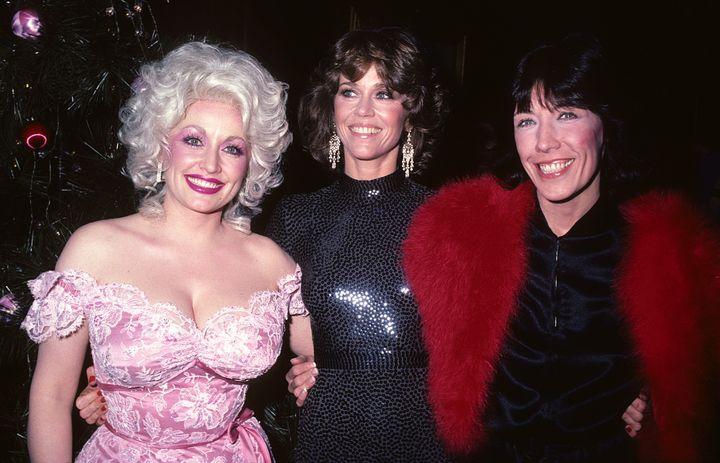 "The ""9 to 5"" trio -- Parton, Fonda and Tomlin -- at the film's 1980 premiere in New York."