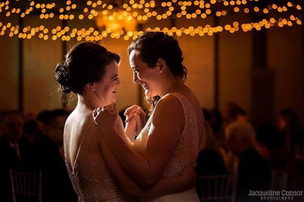 """These two spectacular women laughed with their whole bodies, danced their butts off and enjoyed every second of their weddin"