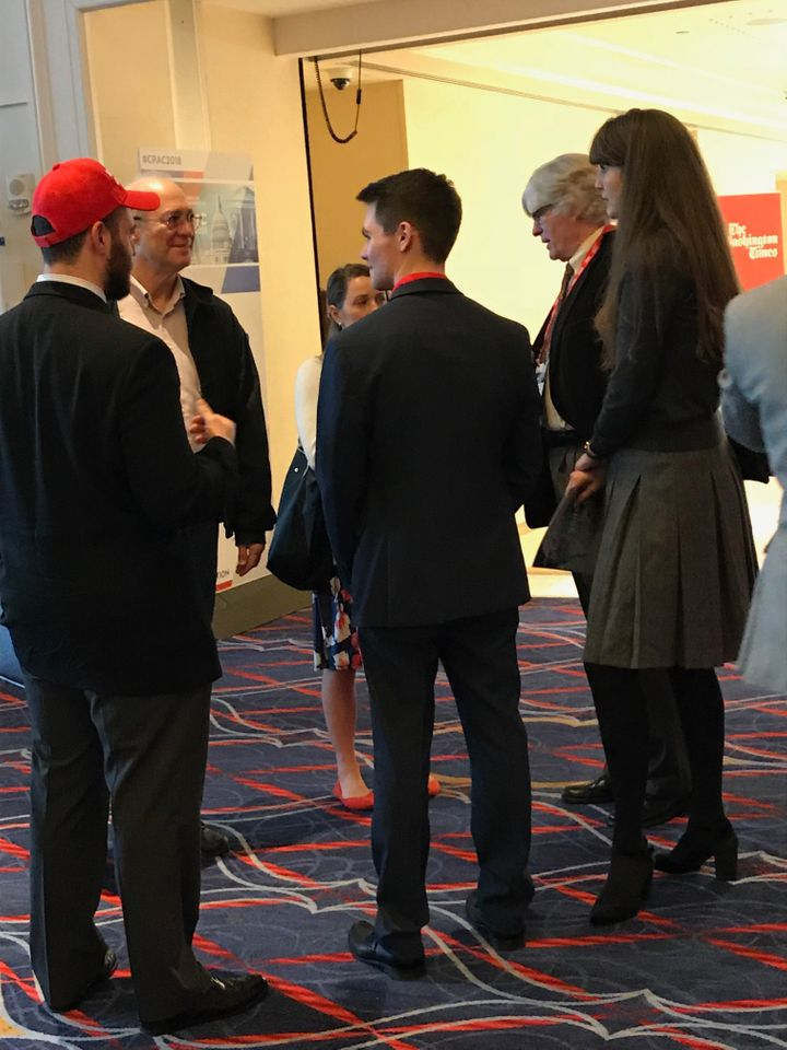 Peter Brimelow, second from the right, at CPAC.