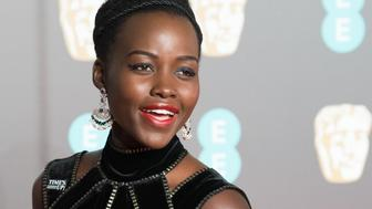 LONDON, ENGLAND - FEBRUARY 18:  Lupita Nyong'o attends the EE British Academy Film Awards (BAFTAs) held at Royal Albert Hall on February 18, 2018 in London, England.  (Photo by Samir Hussein/WireImage)