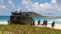 미군이 하와이에서 비밀 도상훈련을