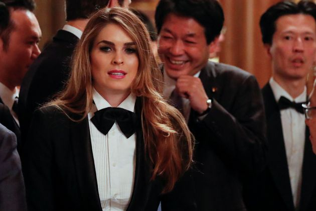Hope Hicks managed to keep a relatively low profile in the