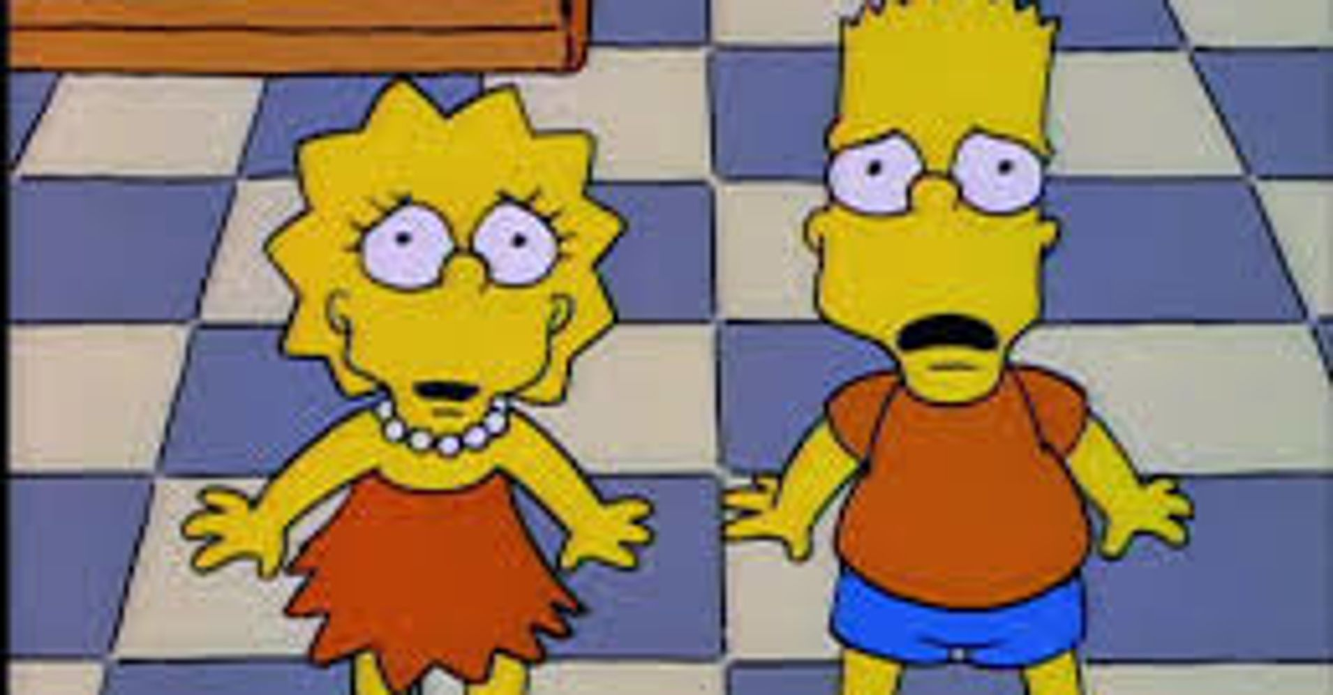 Cartoon Characters Looking Forward : This weird thing about the simpsons is freaking out
