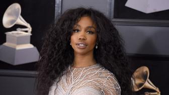 NEW YORK, NY - JANUARY 28:  SZA attends the 60th Annual GRAMMY Awards - Arrivals at Madison Square Garden on January 28, 2018 in New York City.  (Photo by Presley Ann/Patrick McMullan via Getty Images)