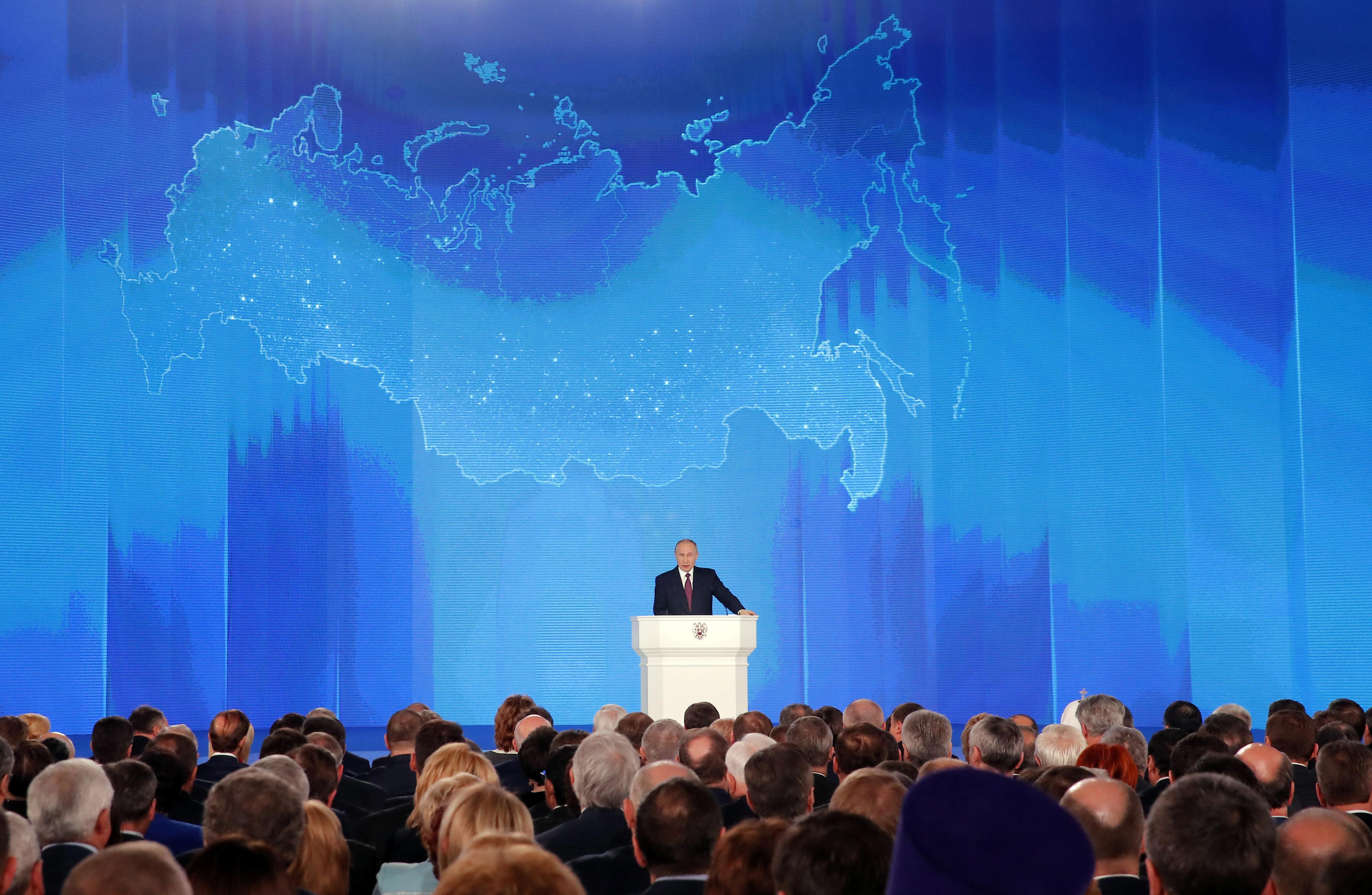 Ο Πούτιν παρουσίασε με διάγγελμα τα νέα υπερσύγχρονα όπλα της