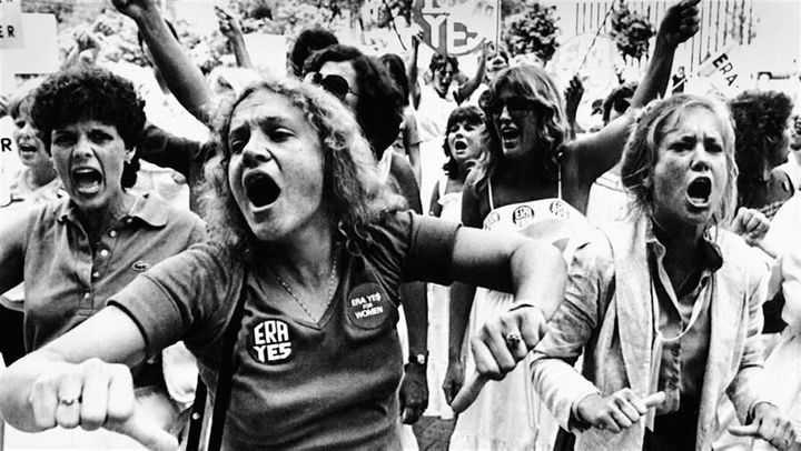 Equal Rights Amendment supporters voice their disapproval of the Florida Senate's defeat of an ERA ratification bill in 1982.