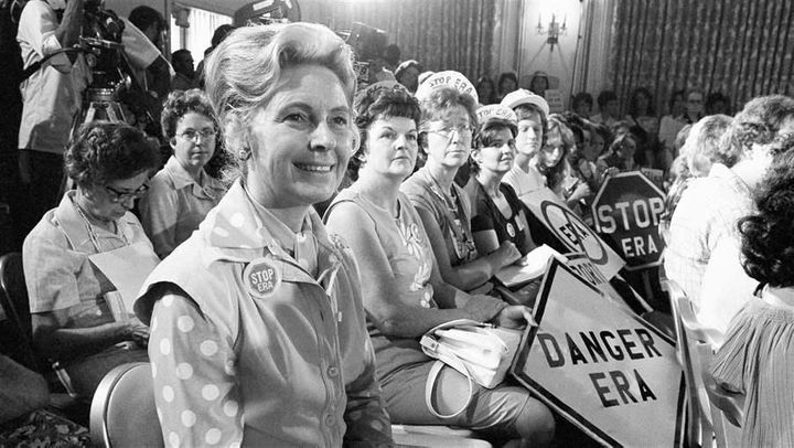 Phyllis Schlafly, leader of the effort to defeat the Equal Rights Amendment, in 1976.