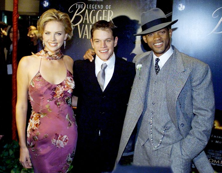 "Charlize Theron, Matt Damon and Will Smith attend the New York premiere of ""The Legend of Bagger Vance."""