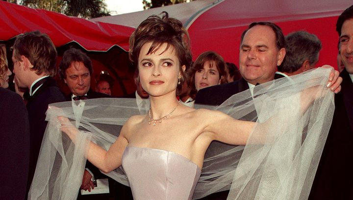 Actress Helena Bonham-Carter arrives at the Shrine auditorium in 1998.