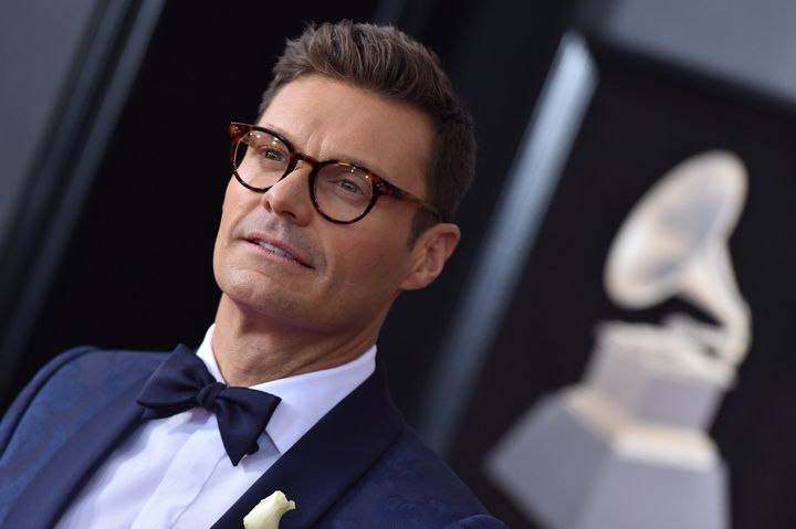 Ryan Seacrest at the 60th annual Grammy awards on Jan. 28.