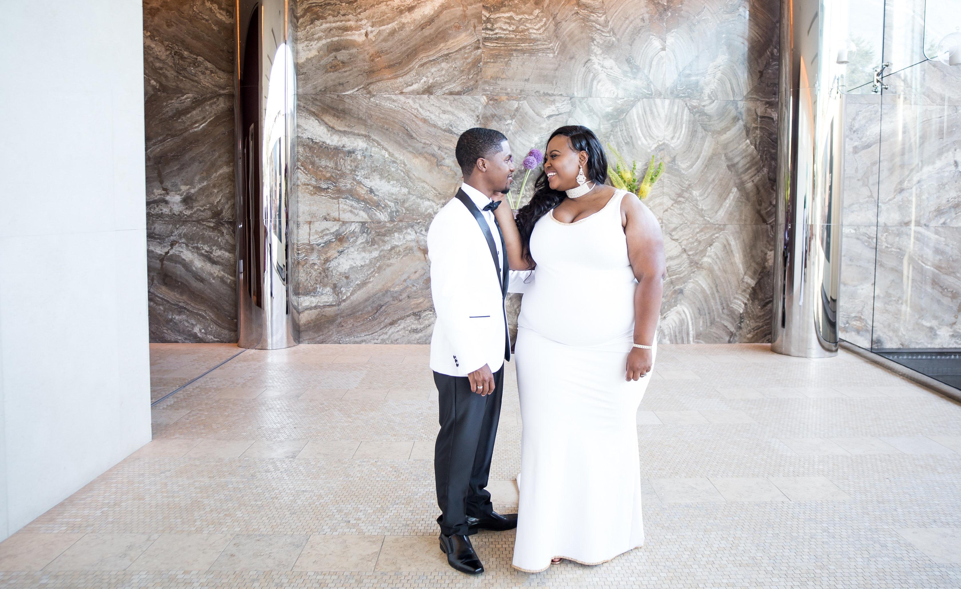 Joy and her husband,