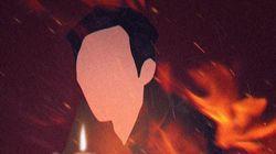 이 남성이 사장을 협박하고 상가 건물에 불을 지른