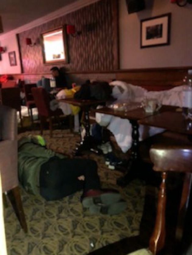 The Brewers Arms in Berwick became an impromptu guest house on Thursday