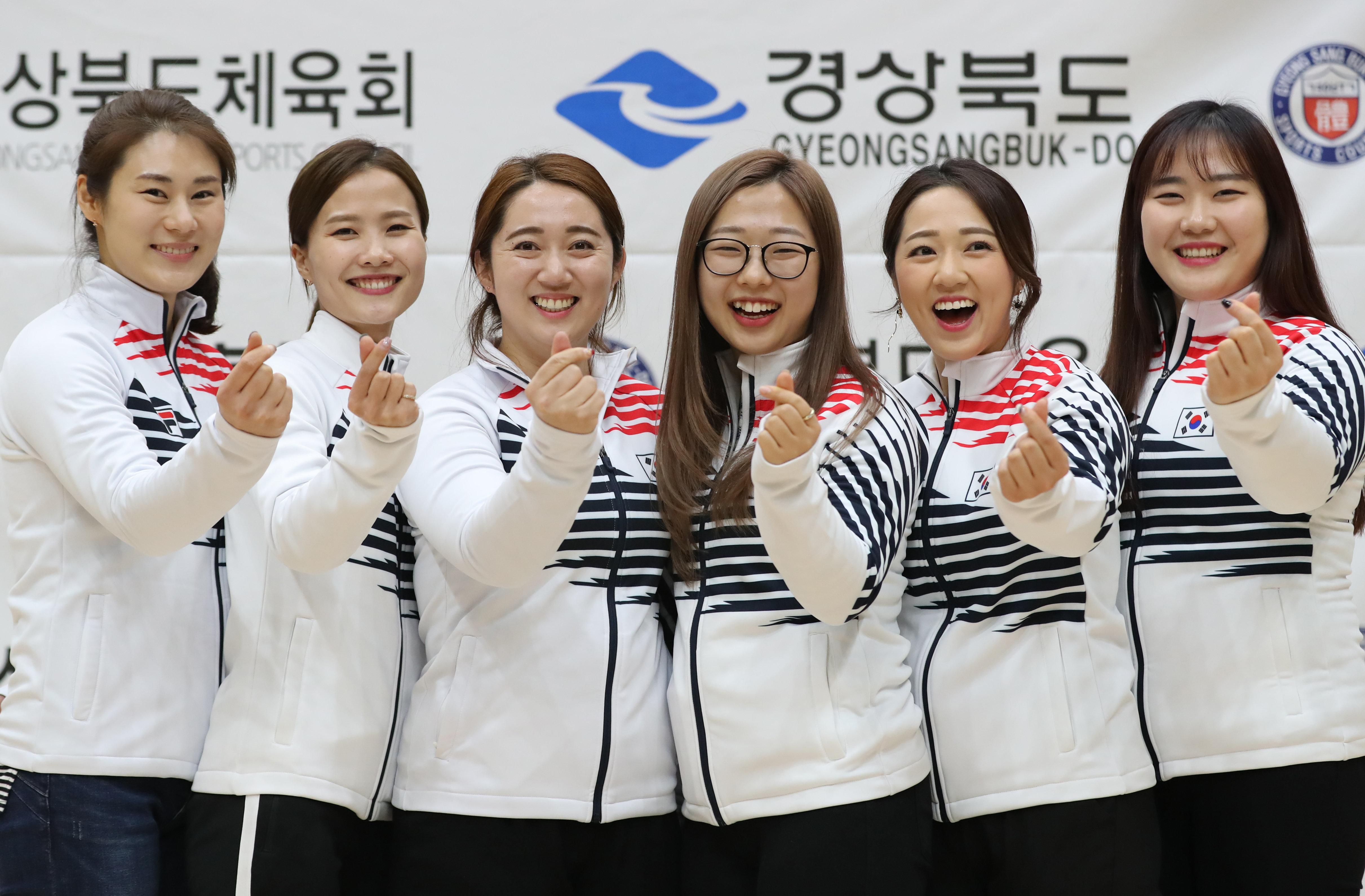 여자 컬링 대표팀은 '프로야구 시구 제안'이 꿈만 같다