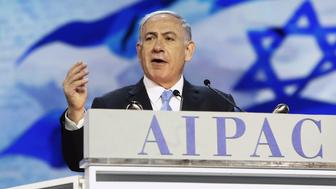 "Israel's Prime Minister Benjamin Netanyahu addresses the American Israel Public Affairs Committee (AIPAC) policy conference in Washington, March 2, 2015. Netanyahu said on Monday that the alliance between his country and the United States is ""stronger than ever"" and will continue to improve. REUTERS/Jonathan Ernst (UNITED STATES - Tags: POLITICS TPX IMAGES OF THE DAY)"