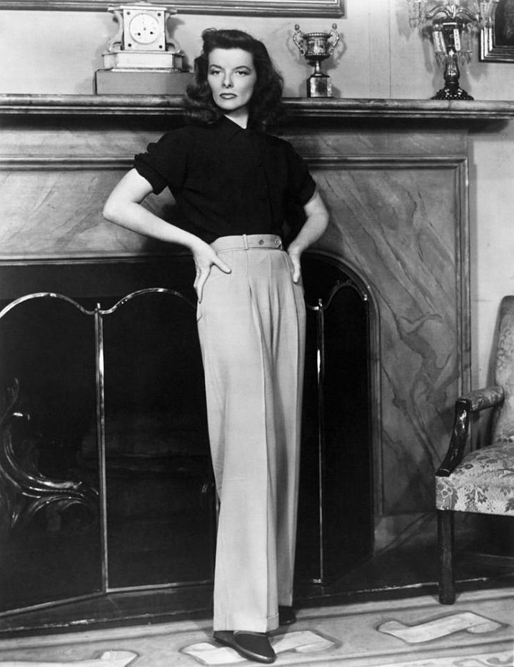 "Katharine Hepburn in the stage version of ""The Philadelphia Story,"" late 1930s."