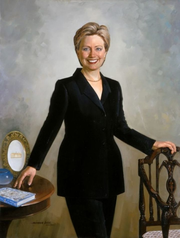 Hillary Clinton was the first first lady to wear pants in her official White House portrait.