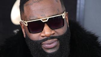 NEW YORK, NY - JANUARY 28:  Rick Ross arrives at the 60th Annual GRAMMY Awards at Madison Square Garden on January 28, 2018 in New York City.  (Photo by Steve Granitz/WireImage)