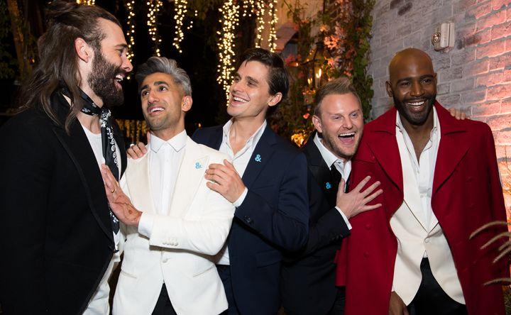 "Jonathan Van Ness, Tan France, Antoni Porowski, Bobby Berk and Karamo Brown of ""Queer Eye."""