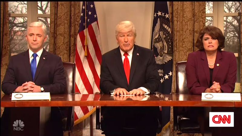 Baldwin's 'High Mentals' Trump Boasts On 'SNL' He's Running Country Like A Waffle House