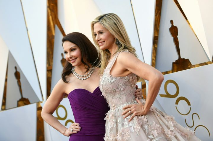 Ashley Judd and Mira Sorvino arrive for the 90th Annual Academy Awards.