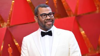 US director Jordan Peele arrives for the 90th Annual Academy Awards on March 4, 2018, in Hollywood, California.  / AFP PHOTO / ANGELA WEISS        (Photo credit should read ANGELA WEISS/AFP/Getty Images)