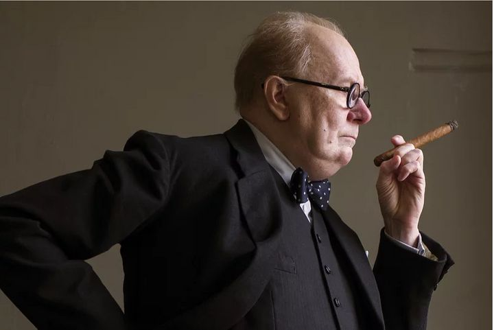 "Gary Oldman in ""Darkest Hour."""