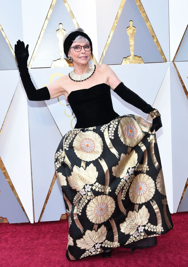 Actress Rita Moreno arrives for the 90th Annual Academy Awards on 4 March