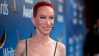 BEVERLY HILLS, CA - FEBRUARY 11:  Kathy Griffin attends the 2018 Writers Guild Awards L.A. Ceremony at The Beverly Hilton Hotel on February 11, 2018 in Beverly Hills, California.  (Photo by Christopher Polk/Getty Images)