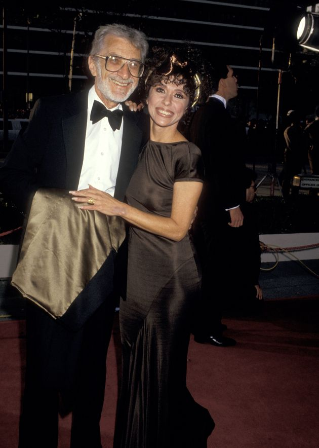 Rita Moreno and husband Lenny Gordon during 59th Annual Academy Awards at Shrine Auditorium in Los Angeles,...