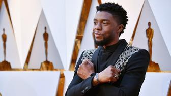 HOLLYWOOD, CA - MARCH 04:  Chadwick Boseman attends the 90th Annual Academy Awards at Hollywood & Highland Center on March 4, 2018 in Hollywood, California.  (Photo by Jeff Kravitz/FilmMagic)