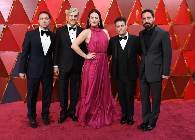 The cast of A Fantastic Woman arrive for the 90th Annual Academy Awards on March 4, 2018, in Hollywood,