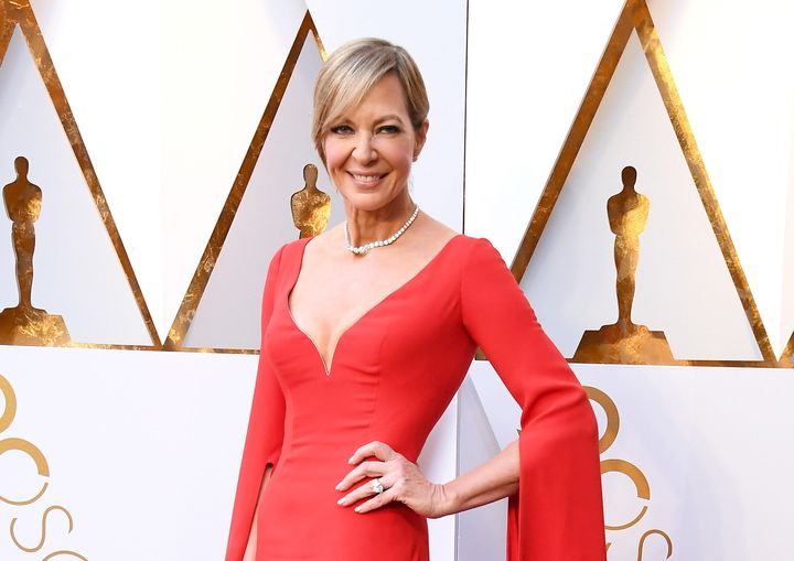 Allison Janney arrives at the 90th Annual Academy Awards.