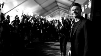 INGLEWOOD, CA - MARCH 05: (EDITOR'S NOTE:  Image has been shot in black and white.)  Host Ryan Seacrest attends the 2017 iHeartRadio Music Awards which broadcast live on Turner's TBS, TNT, and truTV at The Forum on March 5, 2017 in Inglewood, California.  (Photo by Charley Gallay/Getty Images for iHeartMedia)