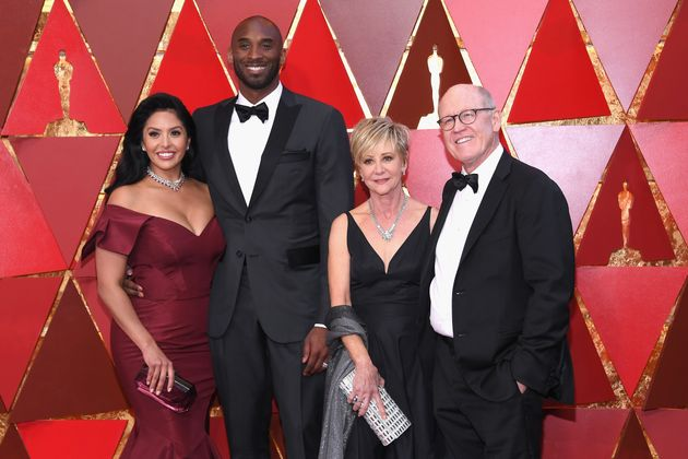 Vanessa Laine Bryant, Kobe Bryant, Linda Hesselroth, and Glen Keane attend the 90th Annual Academy Awards...