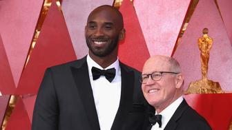 HOLLYWOOD, CA - MARCH 04:  Kobe Bryant (L) and Glen Keane attend the 90th Annual Academy Awards at Hollywood & Highland Center on March 4, 2018 in Hollywood, California.  (Photo by Kevork Djansezian/Getty Images)