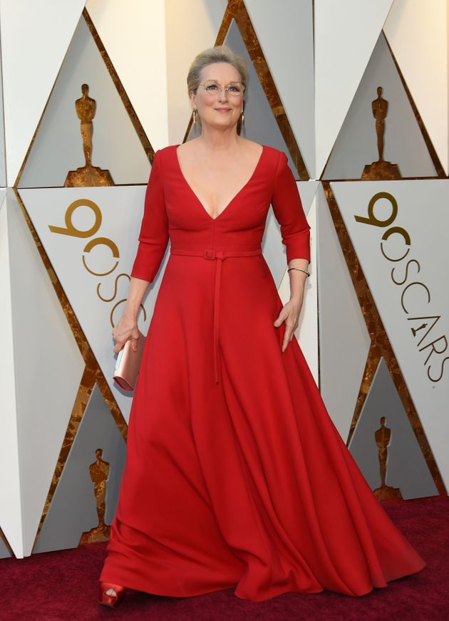 Meryl Streep on the Oscars red