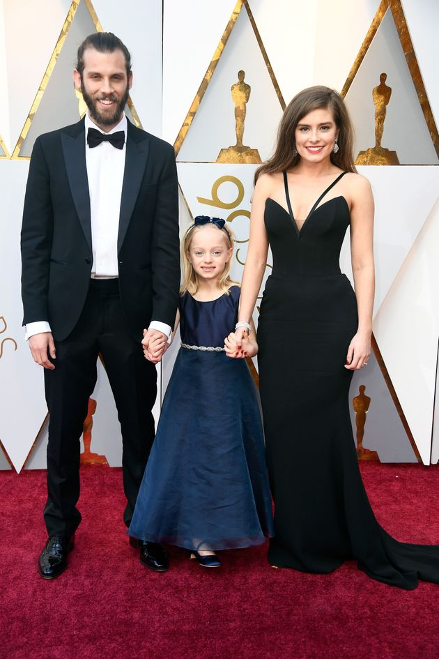 Chris Overton, Maisie Sly, and Rachel Shenton attend the 90th Annual Academy Awards at Hollywood &...
