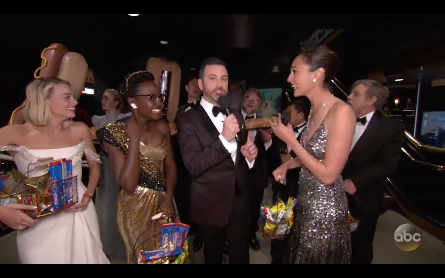 Gal Gadot, Lupita Nyong'o And More Surprise Moviegoers With Snacks During