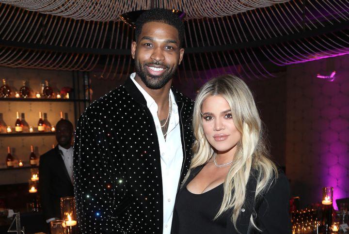 Tristan Thompson and Khloe Kardashian on Feb. 17 in Los Angeles, California.