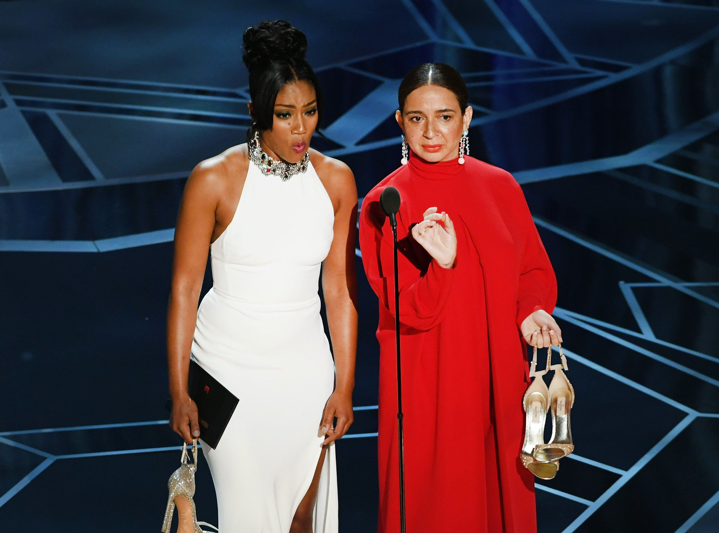 Tiffany Haddish And Maya Rudolph Steal The Show At The 2018 Oscars