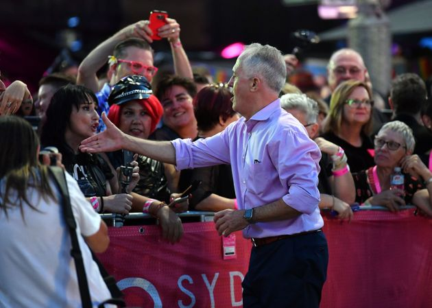 Australia Prime Minister Malcolm Turnbull meets participants and spectators at the Mardi