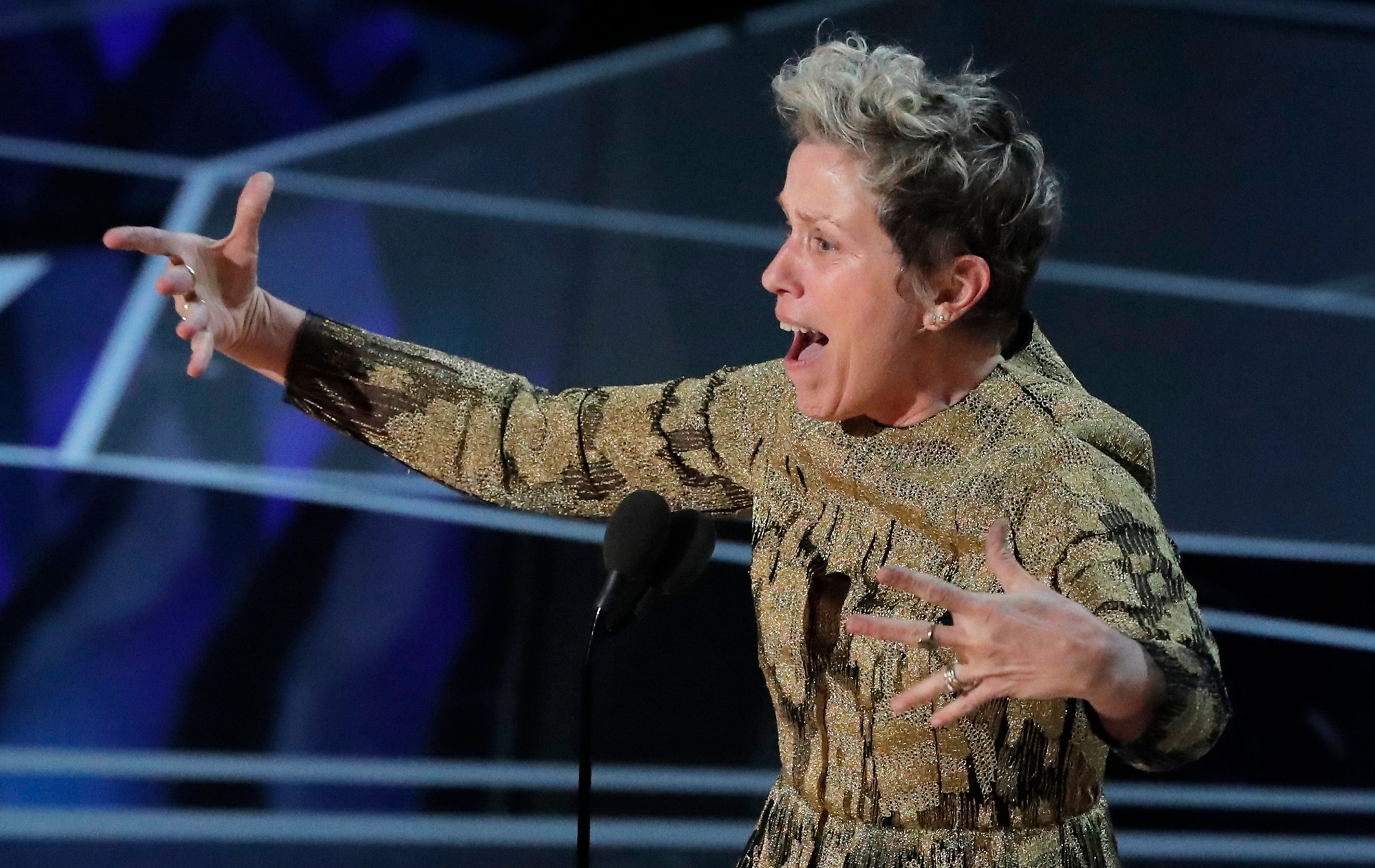 Frances McDormand Got Every Female Nominee On Their Feet At The