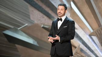 THE OSCARS(r) - The 90th Oscars(r)  broadcasts live on Oscar(r) SUNDAY, MARCH 4, 2018, at the Dolby Theatre® at Hollywood & Highland Center® in Hollywood, on the ABC Television Network. (Craig Sjodin via Getty Images) JIMMY KIMMEL