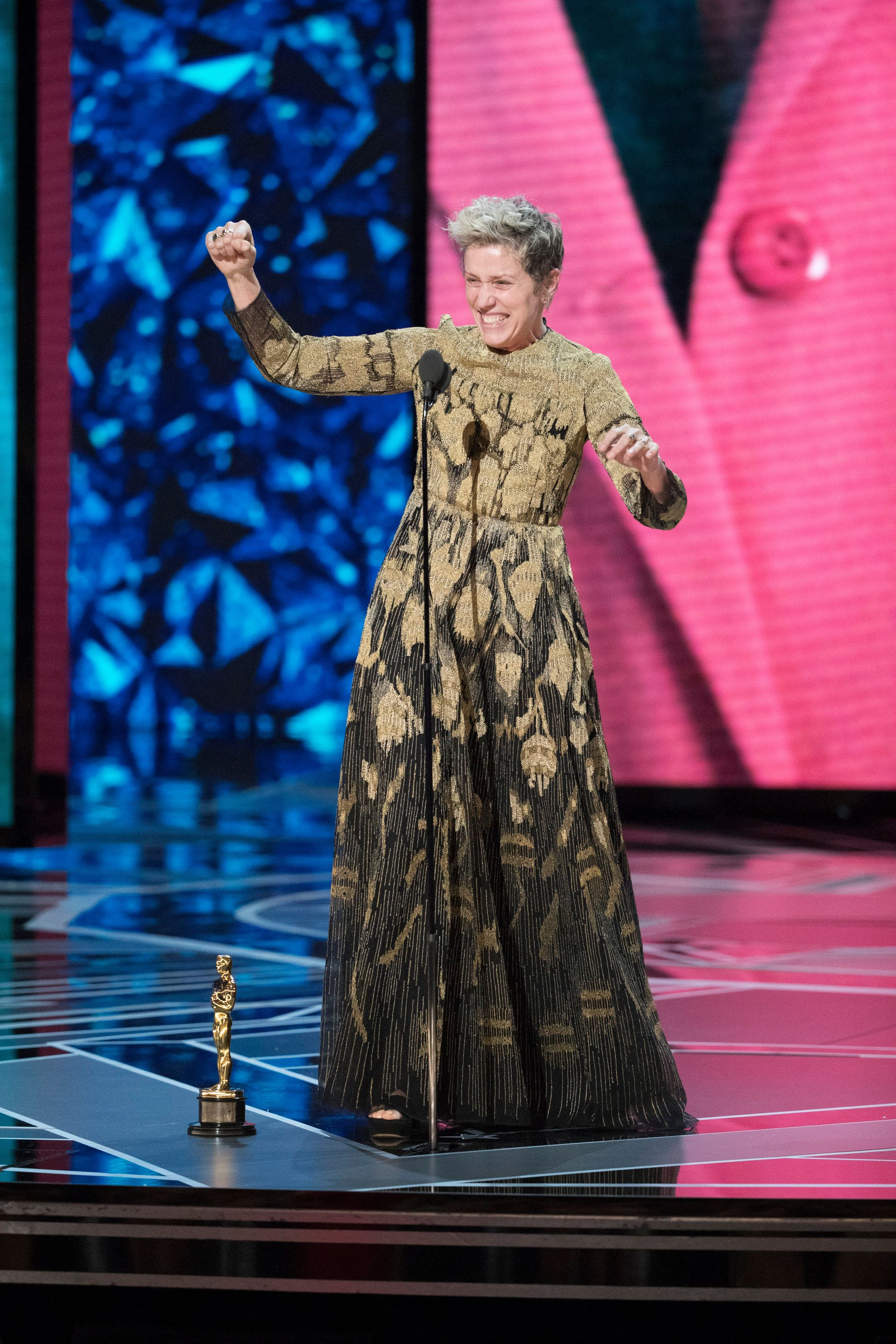 THE OSCARS(r) - The 90th Oscars(r)  broadcasts live on Oscar(r) SUNDAY, MARCH 4, 2018, at the Dolby Theatre® at Hollywood & Highland Center® in Hollywood, on the ABC Television Network. (Craig Sjodin via Getty Images) FRANCES MCDORMAND