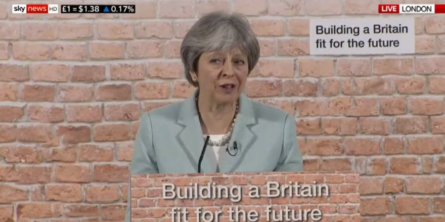 Theresa May Delivers Housing Speech 'Looking Like She's Stuck In A