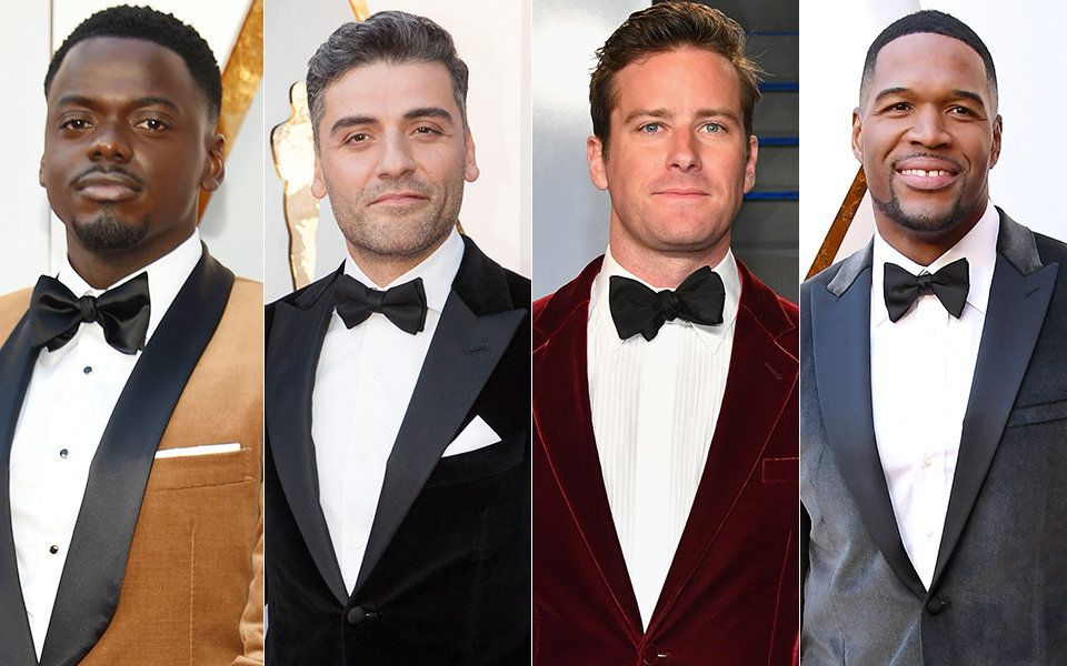 """We will try a little bit this time, too,"" the men of Hollywood seemed to say with their outfits on Sunday night."