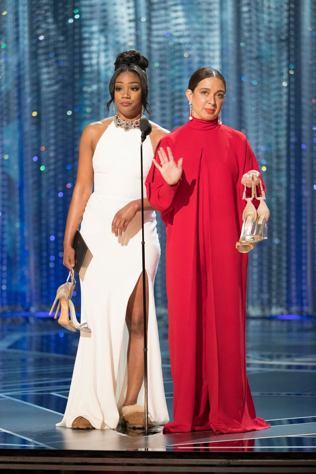 Tiffany Haddish Rewore Her Trusty White Dress To Co-Present An Award At The 83d72dd54