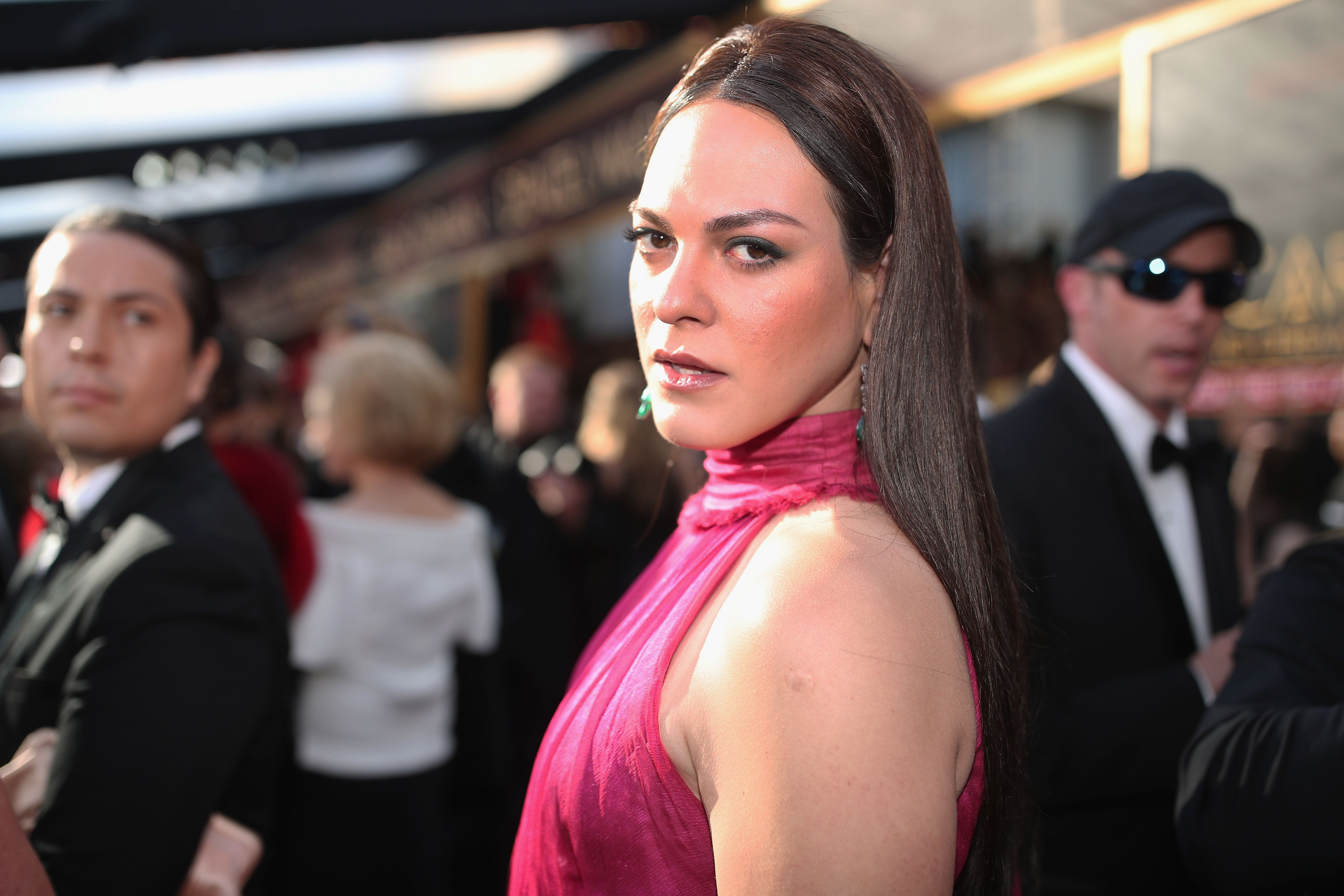 HOLLYWOOD, CA - MARCH 04:  Daniela Vega attends the 90th Annual Academy Awards at Hollywood & Highland Center on March 4, 2018 in Hollywood, California.  (Photo by Christopher Polk/Getty Images)